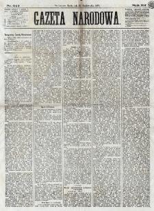 Gazeta Narodowa. R. 12, nr 244 (15 października 1873)