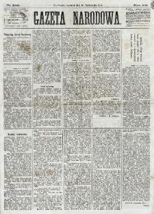 Gazeta Narodowa. R. 12, nr 245 (16 października 1873)