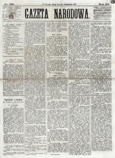Gazeta Narodowa. R. 12, nr 250 (21 października 1873)