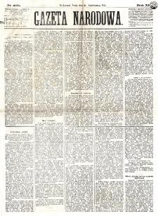 Gazeta Narodowa. R. 12, nr 256 (29 października 1873)