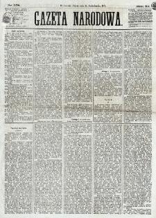 Gazeta Narodowa. R. 12, nr 258 (31 października 1873)