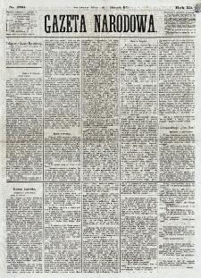 Gazeta Narodowa. R. 12, nr 259 (1 listopada 1873)