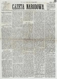Gazeta Narodowa. R. 12, nr 261 (4 listopada 1873)