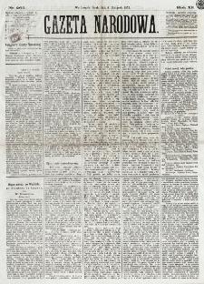 Gazeta Narodowa. R. 12, nr 262 (5 listopada 1873)