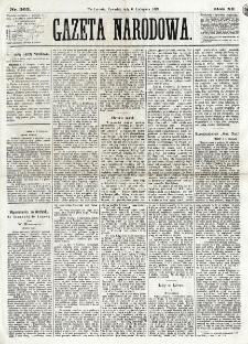 Gazeta Narodowa. R. 12, nr 263 (6 listopada 1873)