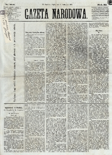 Gazeta Narodowa. R. 12, nr 264 (7 listopada 1873)