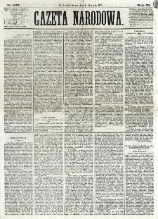Gazeta Narodowa. R. 12, nr 265 (8 listopada 1873)