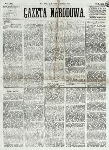 Gazeta Narodowa. R. 12, nr 267 (11 listopada 1873)