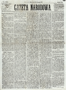 Gazeta Narodowa. R. 12, nr 268 (12 listopada 1873)
