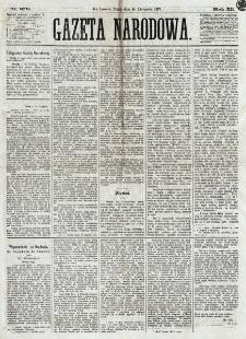 Gazeta Narodowa. R. 12, nr 270 (14 listopada 1873)