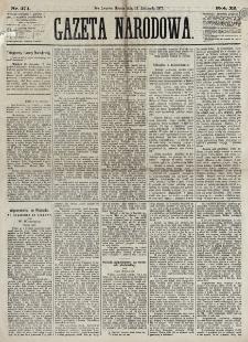 Gazeta Narodowa. R. 12, nr 271 (14 listopada 1873)