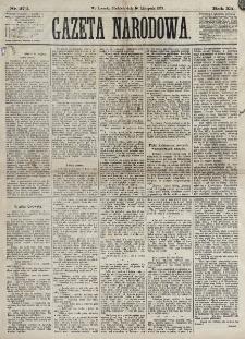 Gazeta Narodowa. R. 12, nr 272 (16 listopada 1873)