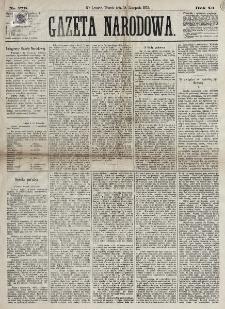 Gazeta Narodowa. R. 12, nr 273 (18 listopada 1873)