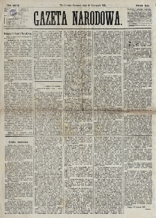 Gazeta Narodowa. R. 12, nr 275 (20 listopada 1873)