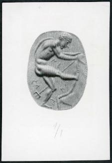 Gemma etruska. Neptun odrywający kawał skały