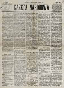 Gazeta Narodowa. R. 12, nr 278 (23 listopada 1873)