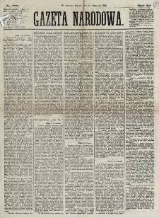 Gazeta Narodowa. R. 12, nr 279 (25 listopada 1873)