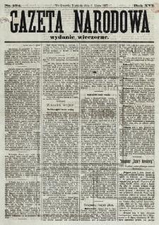 Gazeta Narodowa. R. 16 , nr 154 (8 lipca 1877), wydanie wieczorne