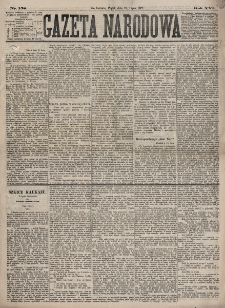 Gazeta Narodowa. R. 16, nr 158 (13 lipca 1877)