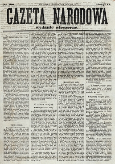 Gazeta Narodowa. R. 16, nr 160 (15 lipca 1877), wydanie wieczorne