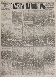 Gazeta Narodowa. R. 16, nr 174 (1 sierpnia 1877)