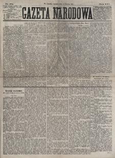 Gazeta Narodowa. R. 16, nr 181 (9 sierpnia 1877)
