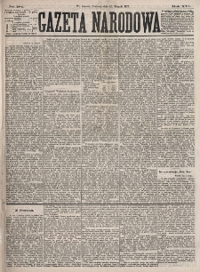 Gazeta Narodowa. R. 16, nr 184 (12 sierpnia 1877)