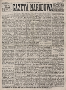 Gazeta Narodowa. R. 16, nr 185 (14 sierpnia 1877)