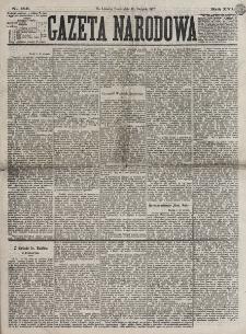Gazeta Narodowa. R. 16, nr 186 (15 sierpnia 1877)