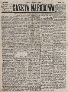 Gazeta Narodowa. R. 16, nr 189 (19 sierpnia 1877)