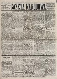 Gazeta Narodowa. R. 16, nr 191 (22 sierpnia 1877)