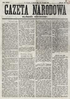 Gazeta Narodowa. R. 16 (1877) nr 195 (26 sierpnia wydanie wieczorne)