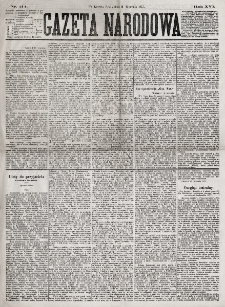 Gazeta Narodowa. R. 16, nr 214 (19 września 1877)