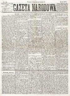 Gazeta Narodowa. R. 16, nr 91 (21 kwietnia 1877)