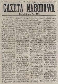 Gazeta Narodowa. R. 16 (1877) nr 218 (23 września wydanie wieczorne)
