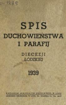 Spis Duchowieństwa i Parafij Diecezji Łódzkiej 1939