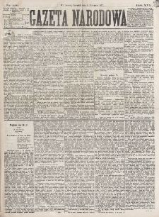 Gazeta Narodowa. R. 16 (1877), nr 256 (8 listopada)