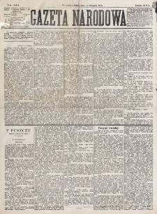 Gazeta Narodowa. R. 16 (1877), nr 263 (14 listopada)