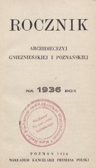 Rocznik Archidiecezyj Gnieźnieńskiej i Poznańskiej 1936