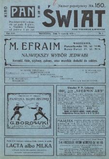Świat : pismo tygodniowe ilustrowane poświęcone życiu społecznemu, literaturze i sztuce. R. 17 (1922), nr 3 (21 stycznia)