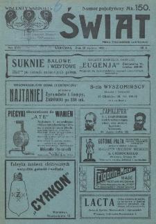 Świat : pismo tygodniowe ilustrowane poświęcone życiu społecznemu, literaturze i sztuce. R. 17 (1922)
