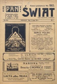 Świat : pismo tygodniowe ilustrowane poświęcone życiu społecznemu, literaturze i sztuce. R. 17 (1922), nr 7 (18 lutego)