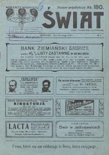 Świat : pismo tygodniowe ilustrowane poświęcone życiu społecznemu, literaturze i sztuce. R. 17 (1922), nr 8 (25 lutego)