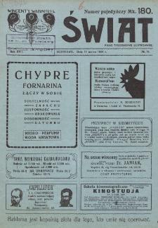 Świat : pismo tygodniowe ilustrowane poświęcone życiu społecznemu, literaturze i sztuce. R. 17 (1922), nr 10 (11 marca)