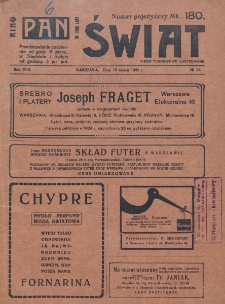 Świat : pismo tygodniowe ilustrowane poświęcone życiu społecznemu, literaturze i sztuce. R. 17 (1922), nr 11 (18 marca)