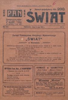 Świat : pismo tygodniowe ilustrowane poświęcone życiu społecznemu, literaturze i sztuce. R. 17 (1922), nr 19 (13 maja)