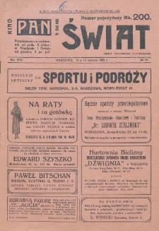 Świat : pismo tygodniowe ilustrowane poświęcone życiu społecznemu, literaturze i sztuce. R. 17 (1922), nr 23 (10 czerwca)