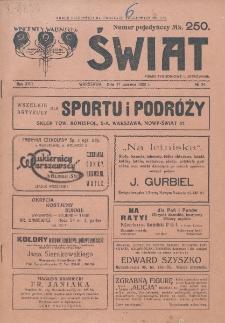 Świat : pismo tygodniowe ilustrowane poświęcone życiu społecznemu, literaturze i sztuce. R. 17 (1922), nr 24 (17 czerwca)