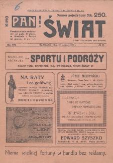 Świat : pismo tygodniowe ilustrowane poświęcone życiu społecznemu, literaturze i sztuce. R. 17 (1922), nr 25 (24 czerwca)