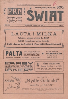 Świat : pismo tygodniowe ilustrowane poświęcone życiu społecznemu, literaturze i sztuce. R. 17 (1922), nr 27 (8 lipca)